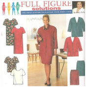 Simplicity 7740 Full Figure Solutions - Simplicity 7740 Dress Top Skirt Jacket by Mary Duffy - Size FF