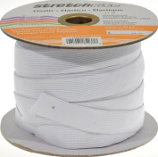 Stretchrite 1.9cm by 30-Yard White Knit Polyester Elastic Spool
