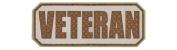 Veteran PVC hook and loop Morale Patch - Khaki / Light Brown