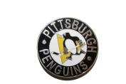 Pittsburgh Penguins Logo Belt Buckle ..7.6cm X 7.6cm Circle Shape.. NHL Hockey..Great Quality .. New