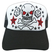 Children's Kids Toddler Tattoo Skull Dice Star Bones Mesh Baseball Hat Cap Snapback
