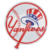 """MLB Logo Patches - New York Yankees """"Top Hat"""""""