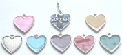 6pc I Lovev Soccer Zipper Pull w/ Coloured Heart - Silver (Brand New) - Pack of 6
