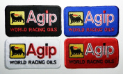 Agip Motor Oil Patches (Mixed Colour) 11x6 Cm Sew/iron on Patch to Cloth, Jacket, Jean, Cap, T-shirt and Etc.