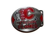 Calgary Flames Logo Belt Buckle ..8.9cm x 7cm .. NHL Hockey..Great Quality .. New