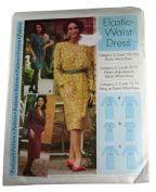 Sewing Step-by-Step Sewing Pattern Misses Elastic Waist Dress Size 4-22