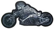 Skeleton on Motorbike Back Patch 27.5CM x 14CM