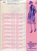 Stretch & Sew Pattern 1085 ~ Ladies' Unconstructed Coat ~ Small, Medium, Large