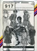 Stretch & Sew Pattern 917 ~ Girls' Dresses ~ Chest 21-31