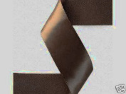 2.2cm By 100yd Double Face Satin Ribbon-BROWN