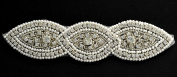 Rhinestone Pearl Applique, Bridal Applique, 15cm - 1.9cm W, TR-10530