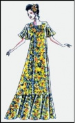 Hawaiian V Neck Muumuu Dress Sewing Pattern #102