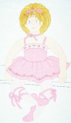 Little Ballerina Doll ~ Fabric Sewing Panel ~ VIP screen print by Cranston Print Works Company