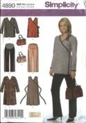 SIMPLICITY 4890 MATERNITY DRESS, TOP, PANTS & BAG SEWING PATTERN BY KAREN Z MISSES' SIZE KK
