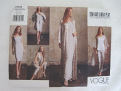Vogue Pattern 2500 Misses'/Misses/ Petite Kimono, Dress, Top, Pants & Scarf Vogue American Designer Tom and Linda Platt