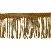 Chainette Fringe 10-Yard Polyester Fringe Rolls for Arts and Crafts, 5.1cm Long, Gold