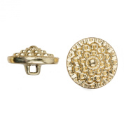C & C Metal Products 5041 Beaded Flower Metal Button, Size 45 Ligne, Gold, 36-Pack