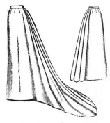 1892 Umbrella Skirt with Train Pattern