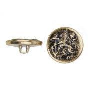 C & C Metal Products 5038 Royal Anchor Metal Button, Size 24 Ligne, Antique Gold, 72-Pack