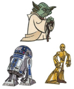 Star Wars Patch Set - Yoda, R2D2 and C3PO Iron on Embroidered Patches / Appliques