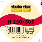 Vilene Iron-on nonwoven interfacing H 250 white-coloured; width 35.10 inch/90cm, price per metre