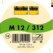 Vilene Sew-in nonwoven interfacing M 12 white-coloured; width 35.10 inch/90cm, price per metre