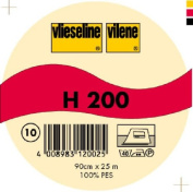 Vilene Iron-on nonwoven interfacing H 200 white-coloured; width 35.10 inch/90cm, price per metre
