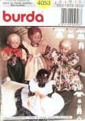 OOP Burda Crafts Pattern 4053. Clothes for 30cm - 36cm , 41cm - 46cm , 50cm - 60cm Baby Dolls