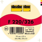 Vilene Iron-on nonwoven interfacing F 220 charcoal-coloured; width 35.10 inch/90cm, price per metre