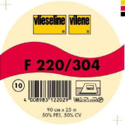 Vilene Iron-on nonwoven interfacing F 220 white-coloured; width 35.10 inch/90cm, price per metre
