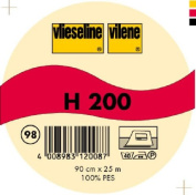 Vilene Iron-on nonwoven interfacing H 200 black-coloured; width 35.10 inch/90cm, price per metre
