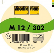 Vilene Sew-in nonwoven interfacing M 12 charcoal-coloured; width 35.10 inch/90cm, price per metre