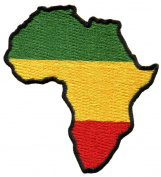 Africa Flag of Judah Flag Rasta Rastafarian Reggae Applique Iron-on Patch G-17 Handmade. with Special Gift