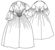 1856 Gathered Dress Pattern