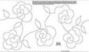 23cm Roses Stipples Made Easy Pattern