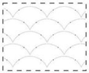23cm Large Clamshell Stipples Made Easy Pattern