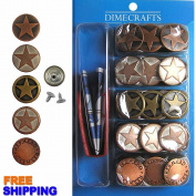#14 Popular 20mm Jean Tack Buttons, Set 50 with Tool