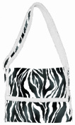 Daisy Kingdom Easy Cut and Sew Sherpa Messenger Tote Kit, Zebra