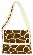 Daisy Kingdom Easy Cut and Sew Sherpa Messenger Tote Kit, Giraffe