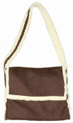 Daisy Kingdom Easy Cut and Sew Sherpa Messenger Tote Kit, Brown
