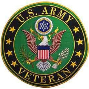 US Army Veteran Logo 30cm Patch
