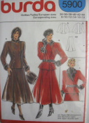 Burda Pattern 5900 Misses Fitted Jacket & Flared Skirt Sizes 8-18
