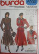 Burda Pattern 5900 Misses Fitted Jacket & Flared Skirt Sizes 8-18