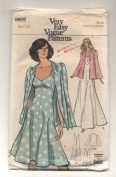 Vintge Vogue Evening Dress and Jacket Sewing Pattern #8909