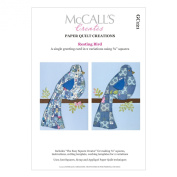 McCall's Creates W10618 Paper Quilt Creations Craft Pattern, Resting Bird Greeting Card