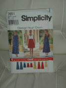 """Simplicity Sewing Pattern #7651 - """"Design Your Own """""""