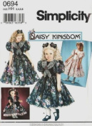 Simplicity 0694 or 9166 Daisy Kingdom Sewing Pattern Little Girl Size 3-6