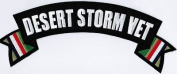 DESERT STORM Rocker Patch With Flags Military VET Embroidered Biker Back Patch!!