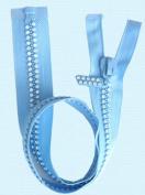60cm Rhinestone Zippers ~ Separating ~ Czech Rhinestone Zipper ~ Dual-strand ~ Light Blue
