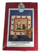 Alma Lynne's Works of Heart Applique Quilt Pattern Santa and Rudolph